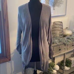 Forever 21 Long sleeve gray cardigan jacket, tunic